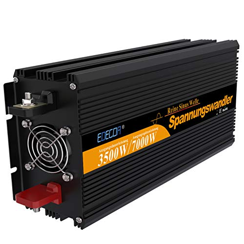 Inversor onda pura convertidor 24v 220v camion inversor 3500w de onda pura con...