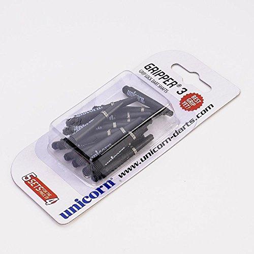 5 Set Multipack Unicorn Gripper 3 kurz schwarz Dart SchŠfte Shafts