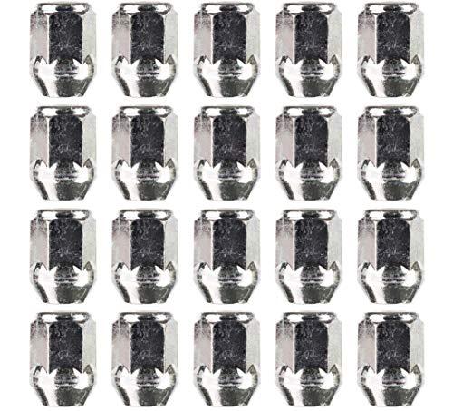 Radmuttern, M14 x 1,5 mm, 21 mm, 20 Stück