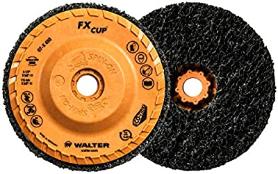 Walter FX Cleaning Abrasive Spin-On Cup Disc - (Pack of 5) Type 27 High Density, Non Woven Cleaning Disc. Abrasive Accessories