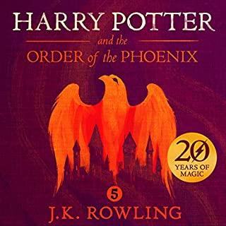 Harry Potter and the Order of the Phoenix, Book 5 audiobook cover art
