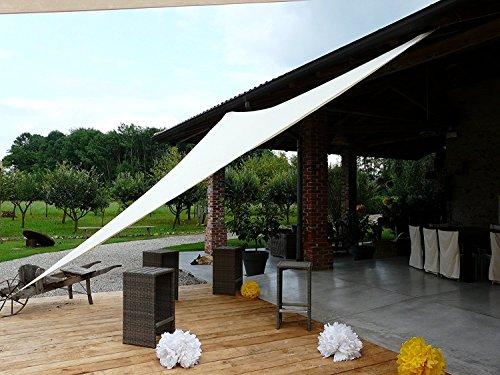 85509 BIANCA - Tenda a Vela Ombreggiante Resistente alla Pioggia per Feste - Triangolare 3X3X3 m - Colore Bianco - Marcata EUROLANDIA