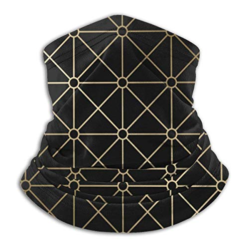 LENGDANU Elegante Art Deco Patrón Geométrico Unisex Invierno Polar Cuello Calentador Polainas Hairband Tubo Frío Cara Térmica Cuello Bufanda Al Aire Libre Protección UV Fiesta Cubierta