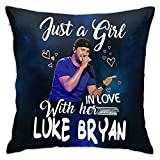 Terry B Dosxyaa Luke Bryan Fashion Comfortable Pillowcases Ultra Soft & Cool Hypoallergenic 18x18inches