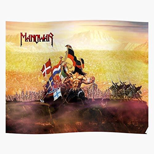 Swedese Manowar Antarbandara Kenstein Music Crazy Fran Das eindrucksvollste und stilvollste Poster für Innendekoration, das derzeit erhältlich ist