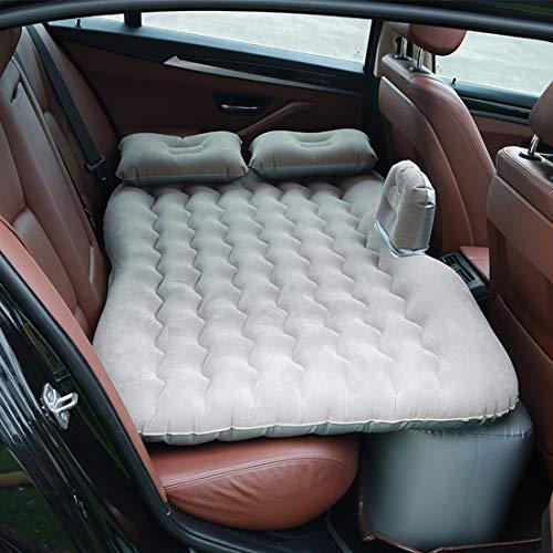 QWASZX Aufblasbare Auto-Matratze, tragbare Luftmatratze, für Campingreisen Aufblasbare Isomatte mit Kissen Freizeit im Freien Einzelne aufblasbare Campingmatte Rücksitz Schlafsessel