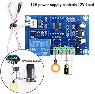 WHDTS DC 12V Light Control Module Light Switch Detection Sensor Photoelectric Relay Switch Module LED Digital Display