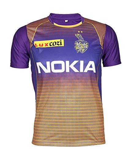 KD Cricket IPL Custom Jersey Supporter Jersey T-Shirt 2020 with Your Choice Name and Number Print (KKR,38)