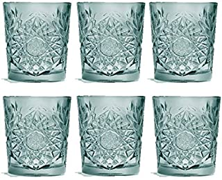Libbey - Hobstar - Whiskyglas, Wasserglas, Saftglas - Farbe: Grün - 355 ml - 6er Set