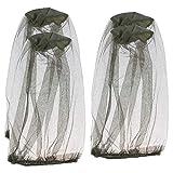 4 pièces mosquito head net, insect repellent netting pour randonnée en plein air camping escalade à pied insectes de mouche de moustique empêchant des insectes (vert)