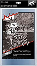 Ultra Pro Silver Size Comic Bags 2-Mil Polypropylene 7.25 X 10.50 Inches (100-Count)