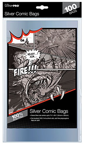 - Comics silver size bags- Lot de 100
