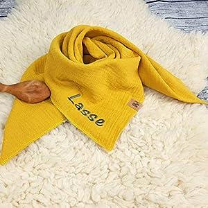 Halstuch ockersenf ocker senf gelb Musselintuch Musselin Kinder Kinderhalstuch Baby Junge Mädchen Dreieckstuch…
