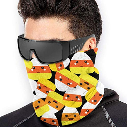 Máscara de Halloween con estampado de caramelos, sin costuras, máscara de cuello, máscara de pesca, bufanda mágica, máscara de tubo, máscara de bandana facial