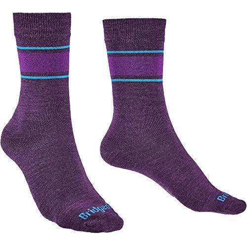 Bridgedale EVERYDAY Damen Socken/Liner Merino Performance Boot, Damen, Socken, 710027/371/M, violett, Size UK 5- 6.5