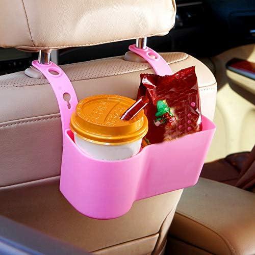Demarkt Auto Rücksitz Organizer Getränke Ständer Getränkehalter Kfz Becherhalter Flaschenhalter Schwarz Küche Haushalt
