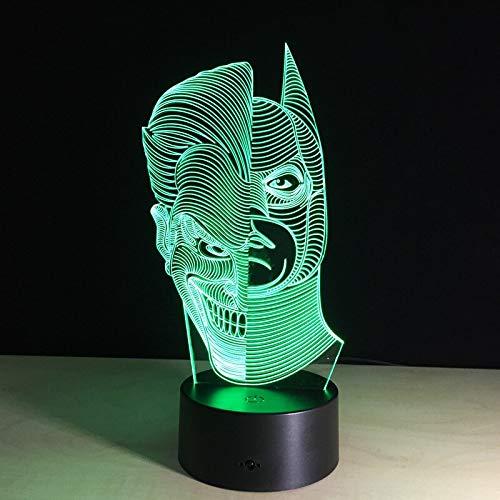 jiushixw 3D acryl nachtlampje met afstandsbediening van kleur veranderende tafellamp lichtantwoord binnenlicht geschenk goedkope tafel vloerlamp licht