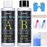Resina Epoxi Ultra Transparente 252 g/240 ml, AJOXEL Proporción 1:1 para...