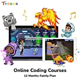 Tynker Family Annual Online Learning Subscription, Coding Educational Program for Students Ages 5-17+, All Coding Levels, Online Coding Games and Activities for Children and Teens