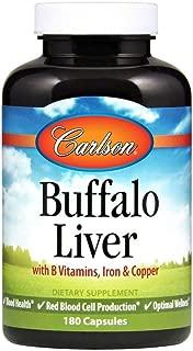 Carlson Buffalo Liver, Blood Health, 180 Capsules