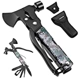 Camping Accessories Multitool Camping Gear Unique Gifts for Men Dad 16 in 1 Survival Gear and...