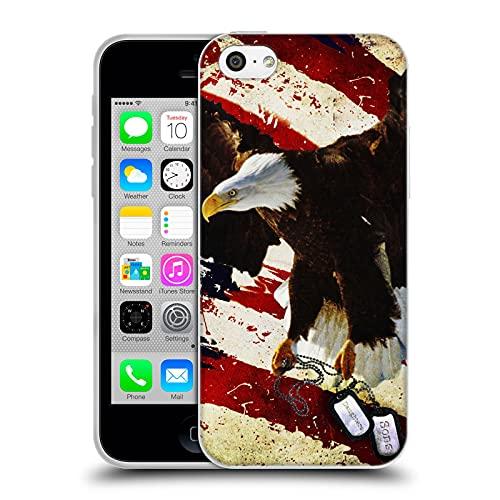 Head Case Designs Licenza Ufficiale Jason Bullard Il Prezzo della libertà America Cover in Morbido Gel Compatibile con Apple iPhone 5c