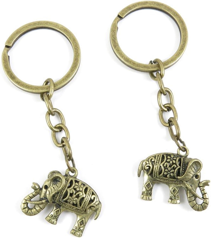 40 PCS Keyring Car Door Key Ring Tag Chain Keychain Wholesale Suppliers Charms Handmade A0AU5 Hollow Thai Elephant