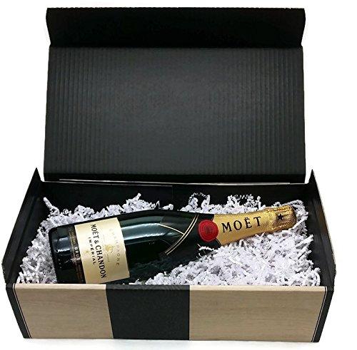 Champagner Geschenkset, Moët & Chandon Brut Impérial 0,75l perfekt z.B. als Geburtstagsgeschenk, Schulabschluss oder Ausbildung