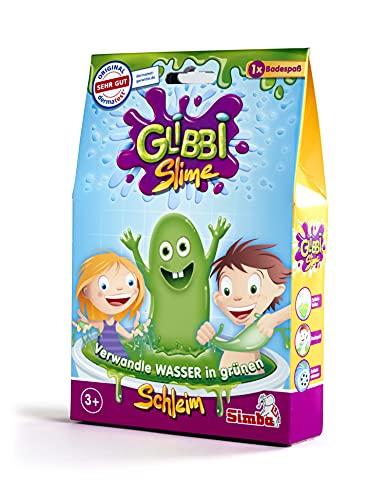 Simba 105954666 - Glibbi Slime, Badewannenspielzeug, Pulver verwandelt Wasser in grünen Schleim, 150 g, Badespaß, ab 3 Jahren, Glibber, Schleimig