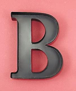 Monogram Letter B Personalized Wall Wine Cork Holder in Black Metal