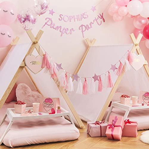 Ginger Ray Pamper Party Tent - Pamper Party - Indoor Play Bedroom Sleepover Tent A Shape