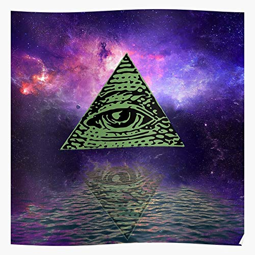MADEWELL Abstract Light All Seeing Background Space Eye Illuminati Illuminated Das eindrucksvollste und stilvollste Poster für Innendekoration, das derzeit erhältlich ist