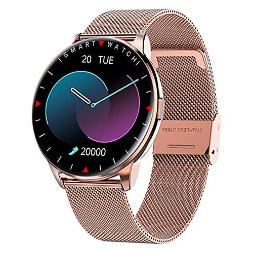 APCHY Smart Watch, 1.32 Pulgadas Fitness Rastreador Impresiones De Entrenamiento Multi Modos Deportivos, Ritmo Cardíaco Oxígeno De Sangre ECG Tracker, Reloj De Salud para Hombres Mujeres,F
