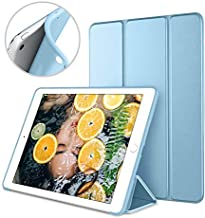 DTTO Mini Case for iPad Mini 3/2/1, (Not Compatible with Mini 5th Generation 2019) Ultra Slim Lightweight Smart Case Trifold Cover Stand with Flexible Soft TPU Back Cover [Auto Sleep/Wake], Sky Blue