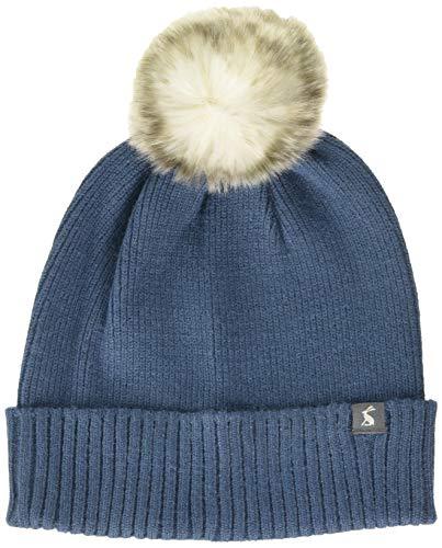 Joules Damen Snowday Hat Mütze, Schal & Handschuh-Set, Grau (Chambray Chambry), Size (Herstellergröße: One)