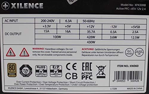Xilence Performance A+ XP430R8 ATX Netzteil 430 Watt 80 Plus Bronze #156800