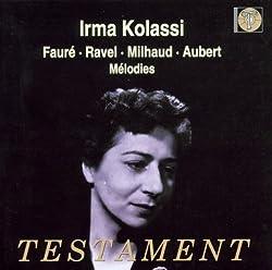 Sings Fauré, Ravel, Milhaud, Aubert