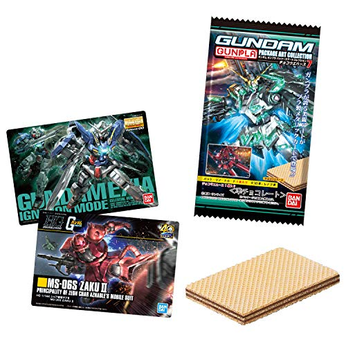 GUNDAM Gunpla Package Art Collection Chocolate Wafers 7 (20 Pieces) Candy Toy
