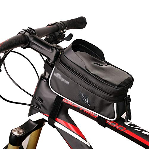 DelongKe Fahrrad Lenkertasche Wasserdicht Mountainbike Tasche Lenker Rahmentasche Fahhradtasche Gross Fahrrad-Vordertasche