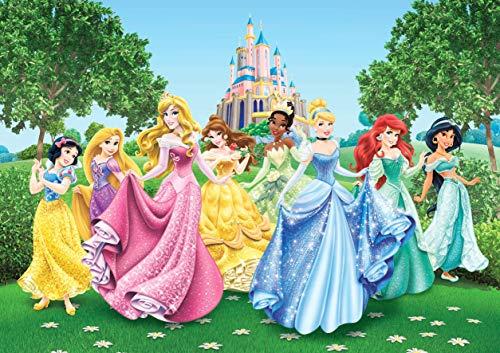 Póster de princesas Disney para pared de cumpleaños o dormitorio, tamaño A4