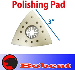 MTP TM Polishing Wool Felt Pad Oscillating Multitool Stone for Fein Multimaster Dewalt Porter Cable Skil Black & Decker Makita Bosch Dremel Chicago Milwaukee Multi-max Ridgid Ryobi Skil