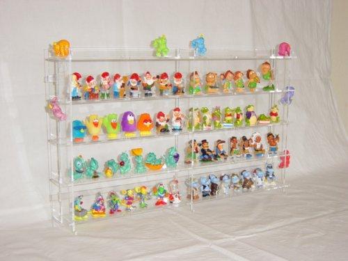 Setzkasten für Ü-Ei Figuren aus Acrylglas Rückwand Transparent