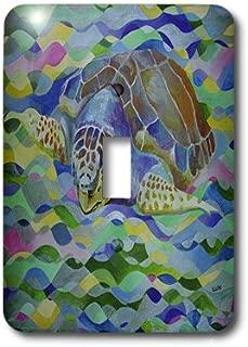 3dRose lsp_46776_1 Loggerhead Turtle World Turtle Day, Loggerhead Sea Turtle, Caretta Caretta, Loggerhead, Turtle Single Toggle Switch