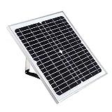 Mozusa Cargador de batería USB del panel solar portátil de 20W...
