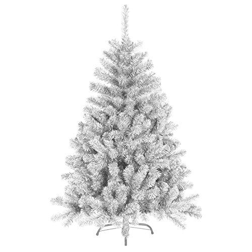 DP-Tech 180 cm 930 Spitzen künstlicher Weihnachtsbaum Tannenbaum Christbaum in weiß inkl. Metallfuß Christbaumständer
