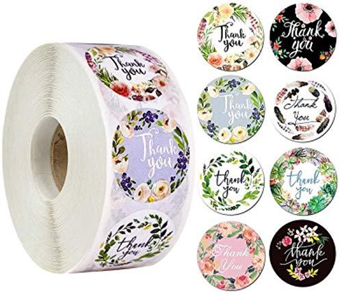 Lachi 2000 pegatinas redondas de papel Gracias por apoyar a nuestra pequeña empresa Kraft papel Gracias pegatinas perfectas para pequeñas empresas boutique bolsas y bolsas de mercancía