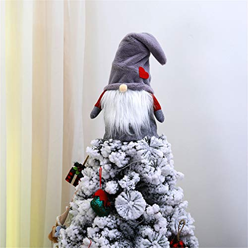 Xisheep Christmas Tree Topper Cute Top Hat Winter Party Tree Decorations Ornament, Christmas Holiday Party Decoration