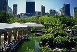 Muestra del Metal 804074 el Zoo en Nueva York Central Park Usa A4 12 x 8 aluminio