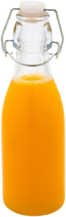 9 Award-winning store Ounce Swing Top Elegant Glass Bottles Seal Airtight 10