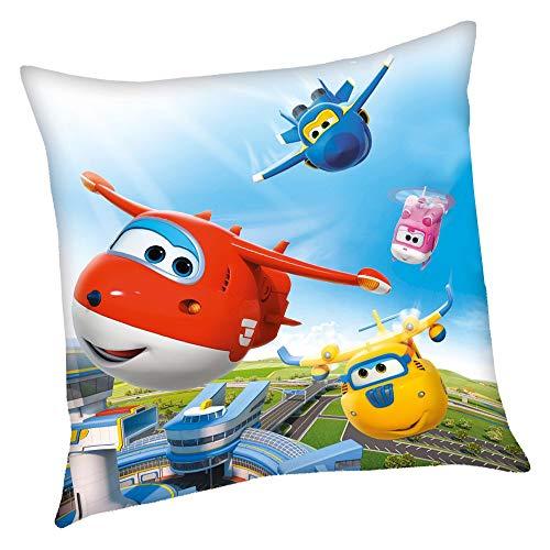 Super Wings Flugübung | Kinder Kissen 40 x 40 cm Kuschelkissen | Dekokissen